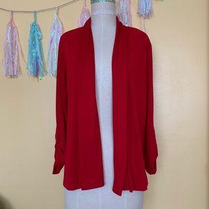 Beautiful Red light weight Cardigan Sweater